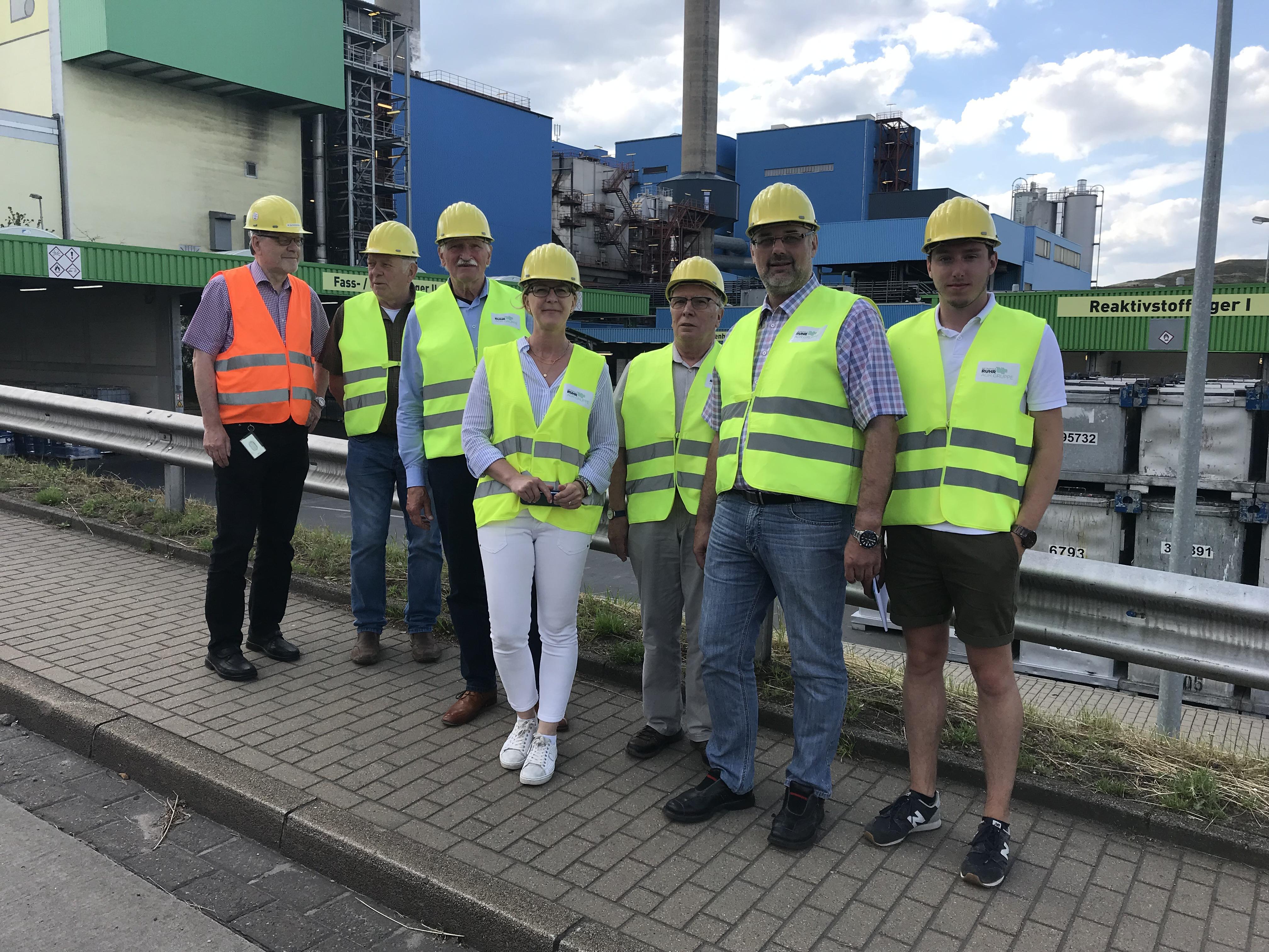 Besuch des Abfallkraftwerks RZR in Herten